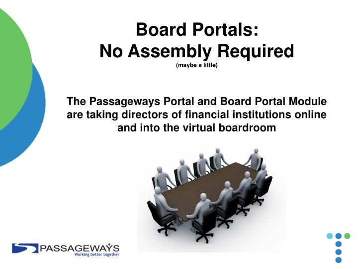 Board Portals: