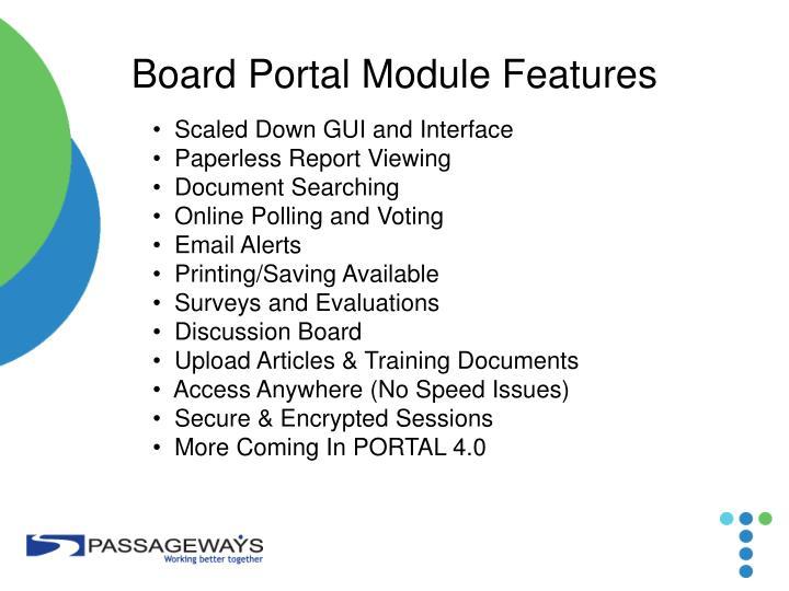 Board Portal Module Features