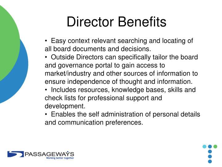 Director Benefits