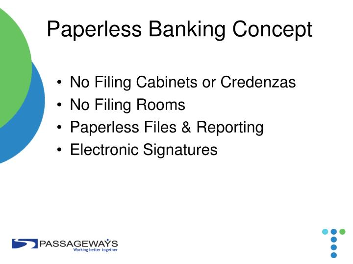 Paperless Banking Concept