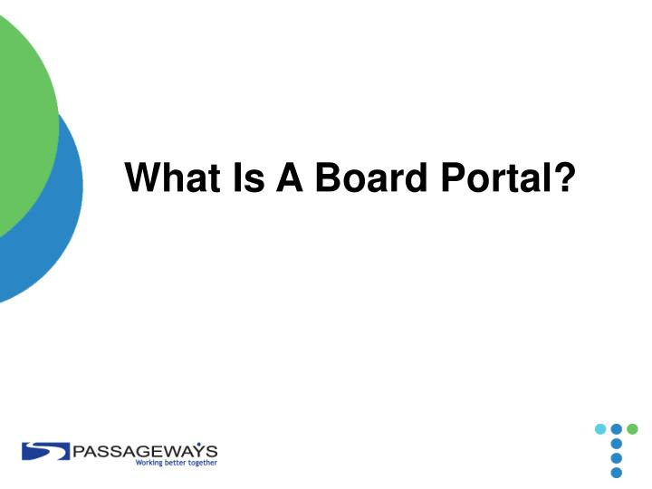 What Is A Board Portal?
