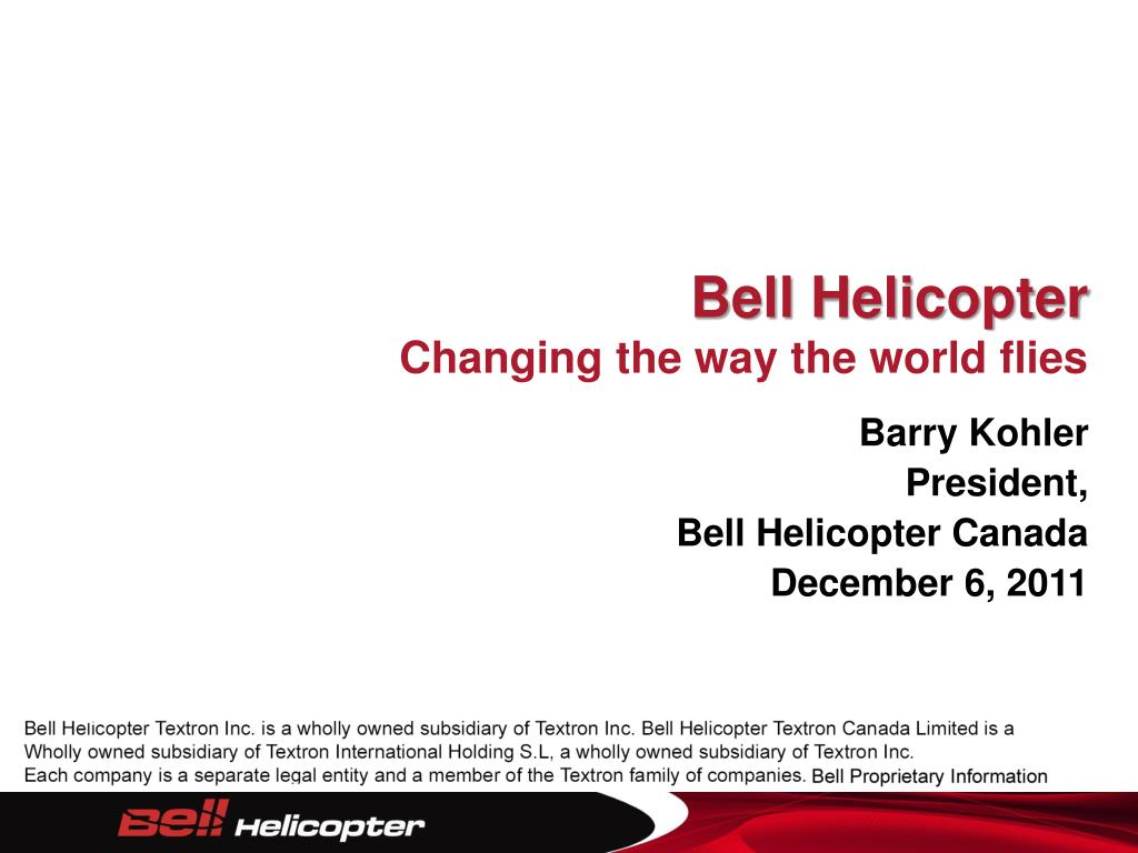 bell helicopter changing the way the world flies l.
