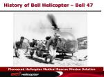history of bell helicopter bell 47