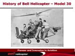history of bell helicopter model 30