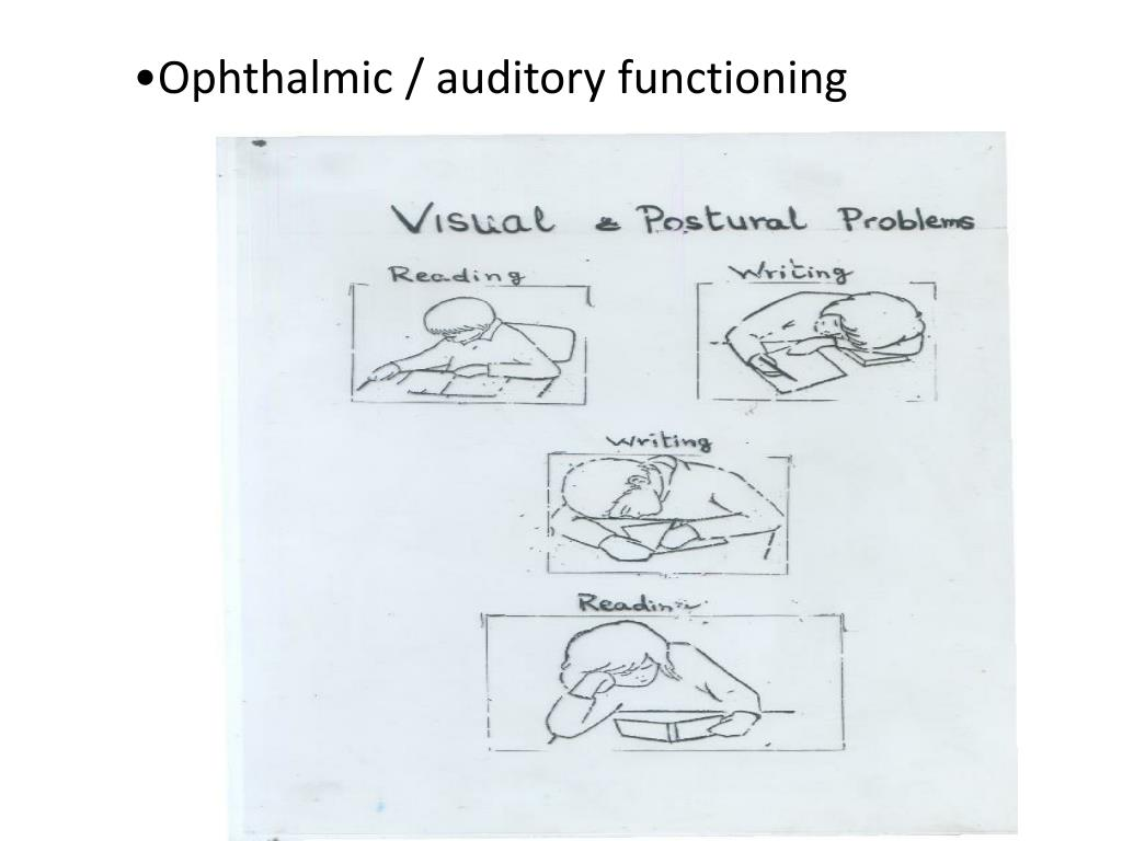 Ophthalmic / auditory functioning