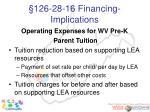 126 28 16 financing implications
