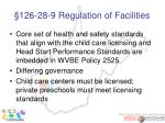 126 28 9 regulation of facilities