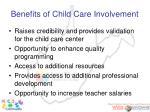 benefits of child care involvement