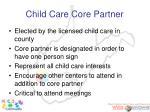 child care core partner