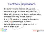 contracts implications