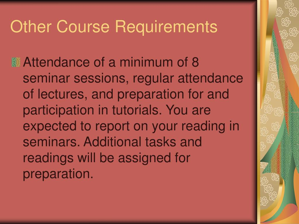 Other Course Requirements