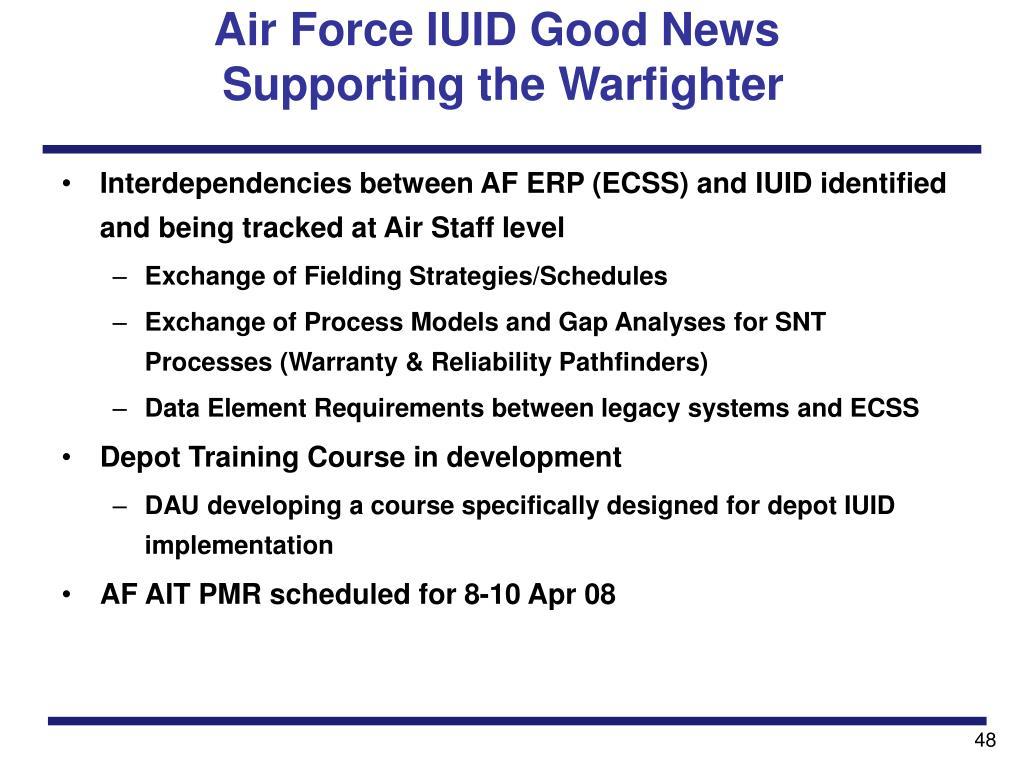 Air Force IUID Good News