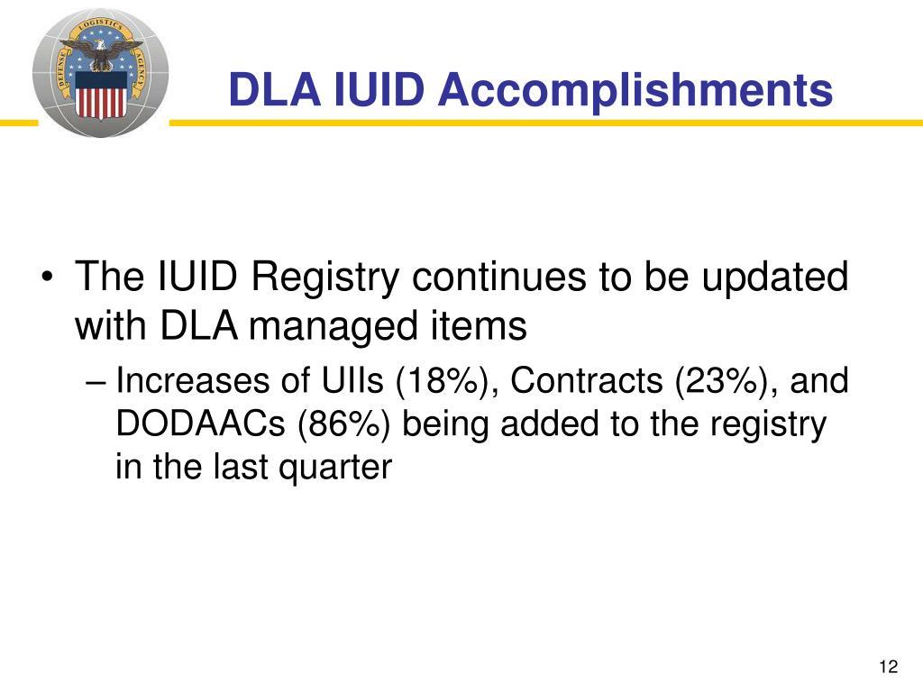 DLA IUID Accomplishments