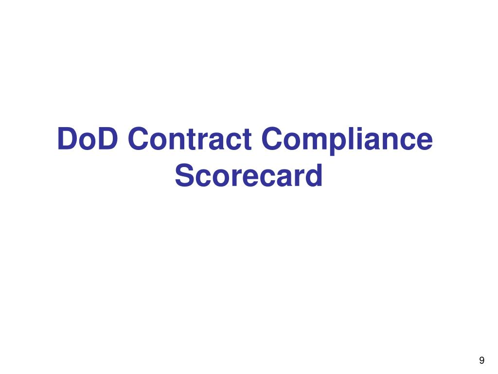 DoD Contract Compliance