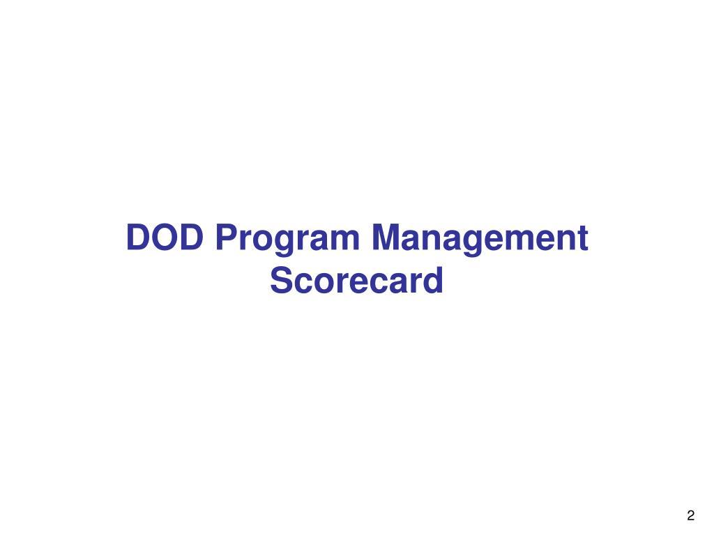 DOD Program Management