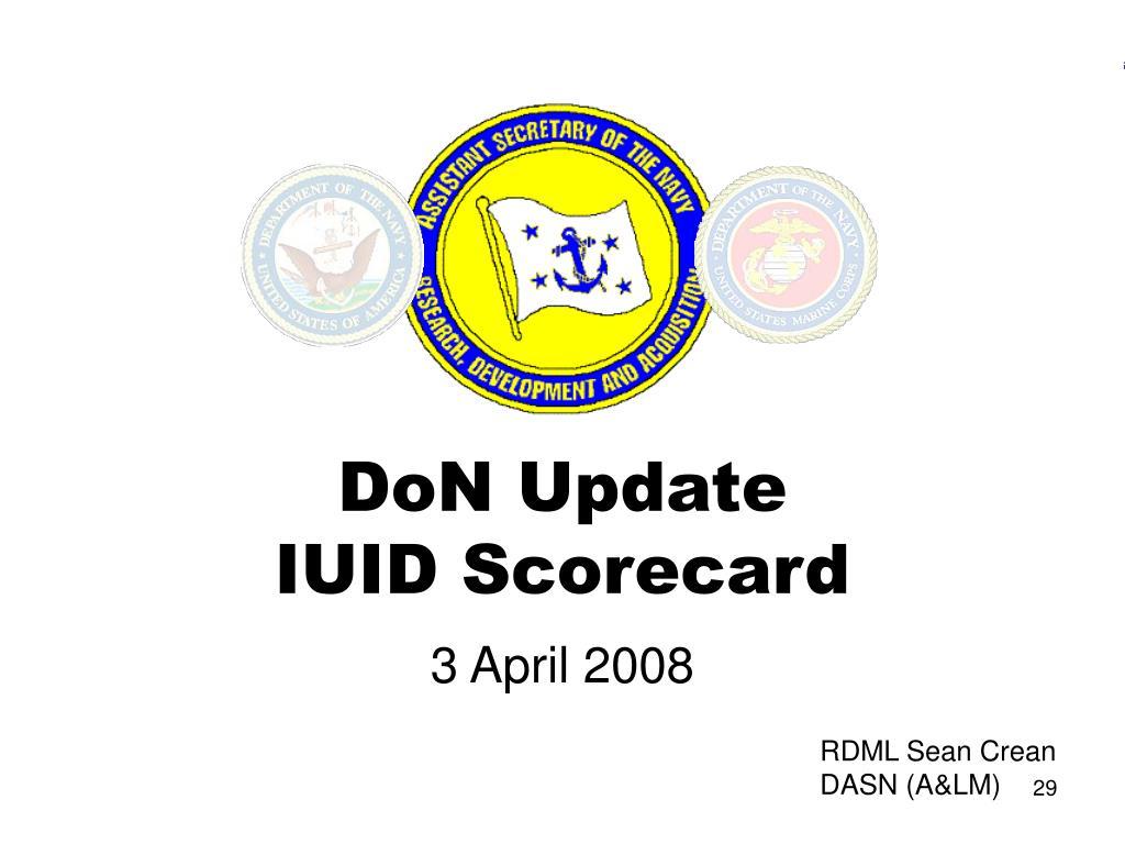 DoN Update