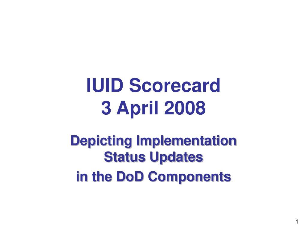 IUID Scorecard