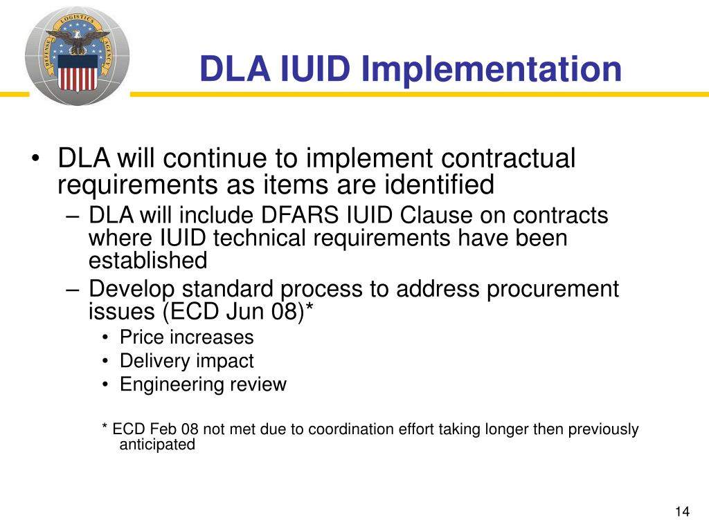 DLA IUID Implementation