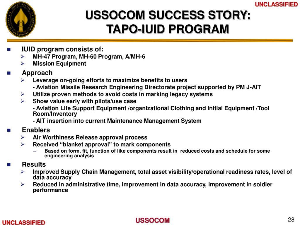 USSOCOM SUCCESS STORY: