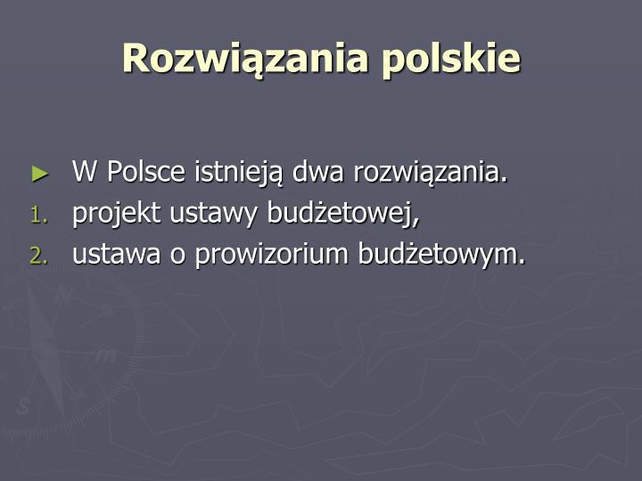 Rozwiązania polskie
