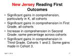 new jersey reading first outcomes