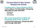 outcome data for new jersey s reading first schools