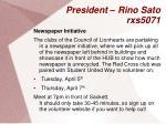 president rino sato rxs50714