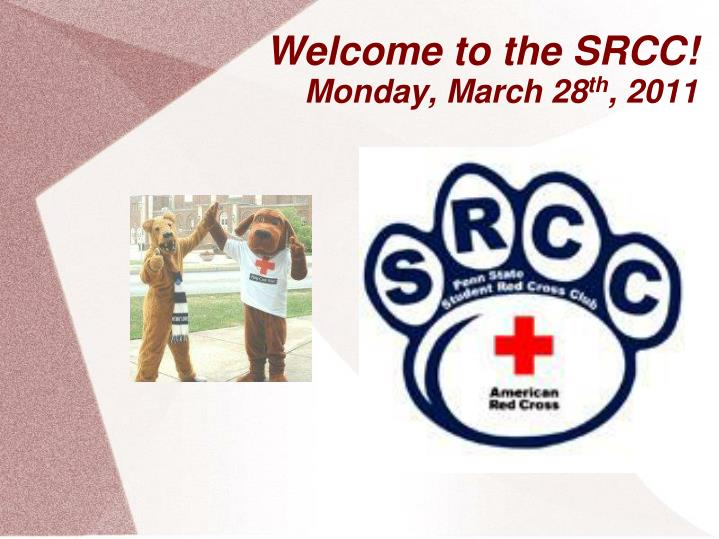 welcome to the srcc monday march 28 th 2011 n.