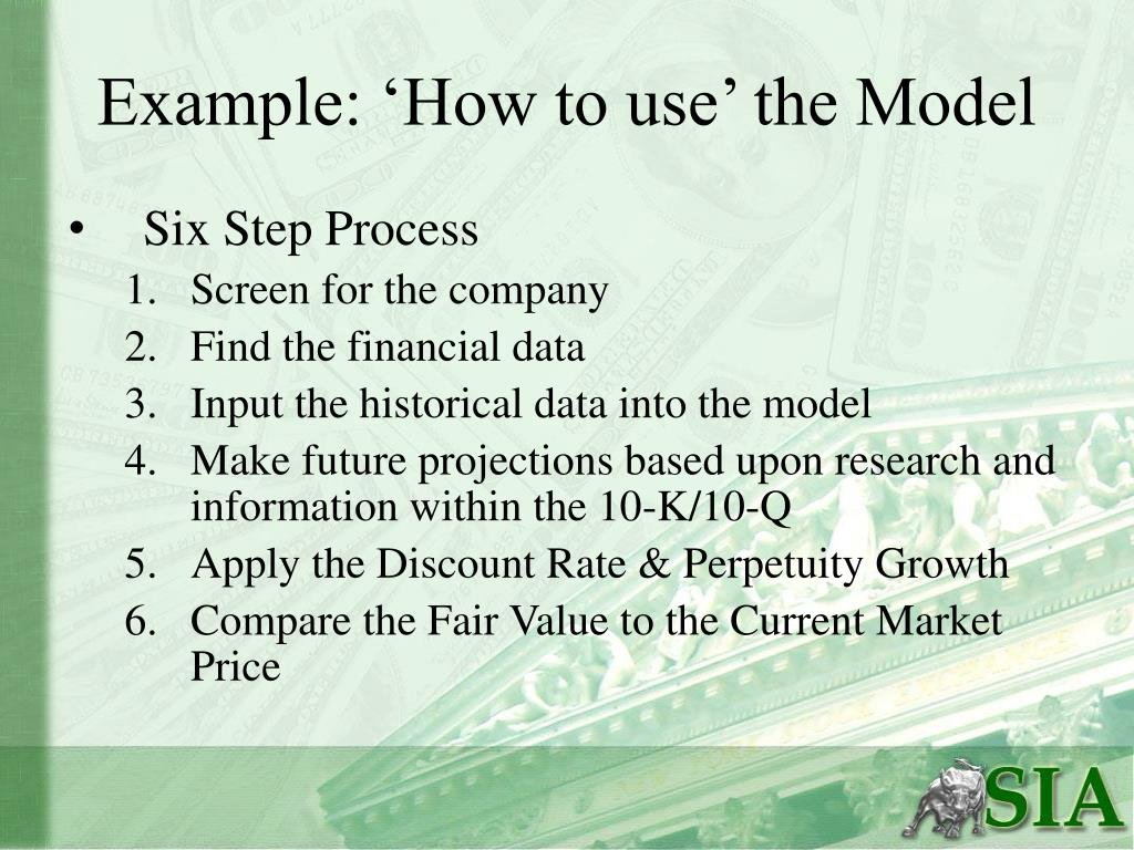 Example: 'How to use' the Model