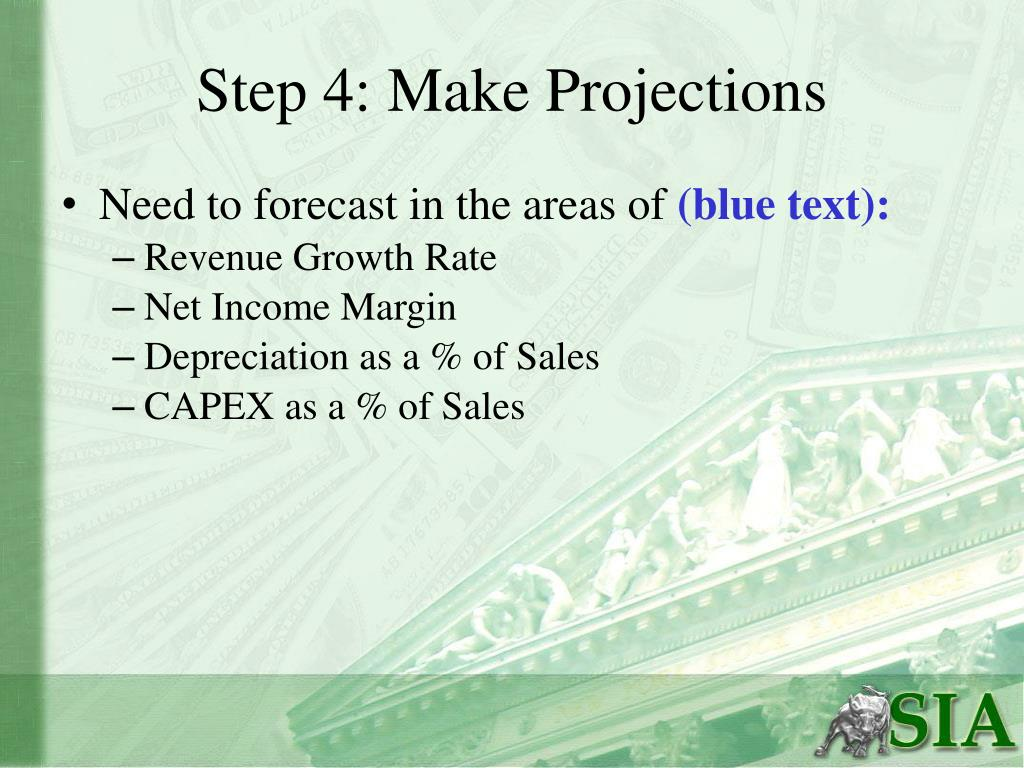 Step 4: Make Projections