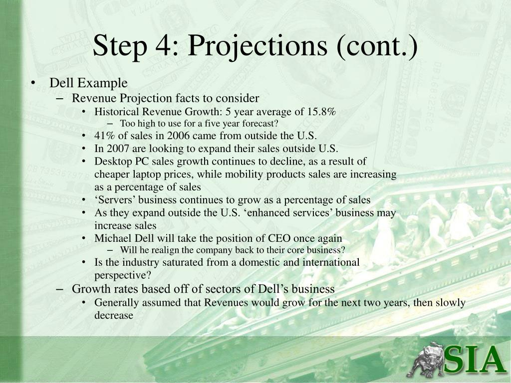 Step 4: Projections (cont.)