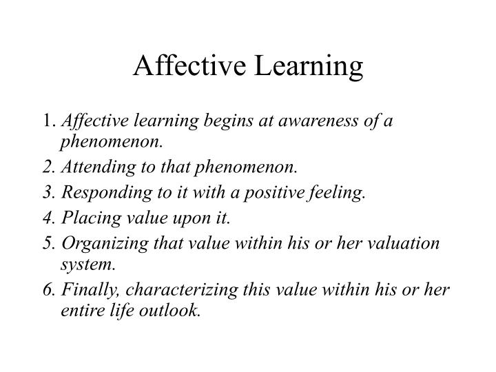 Affective Learning