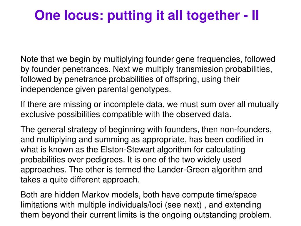One locus: putting it all together - II