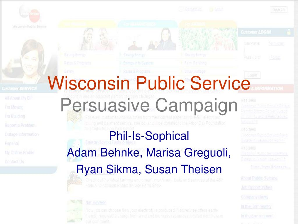 wisconsin public service persuasive campaign l.