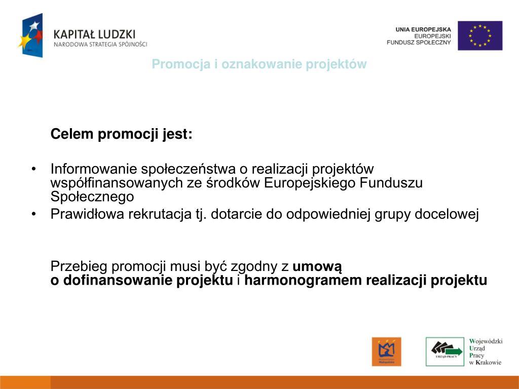 Promocja i oznakowanie projektów