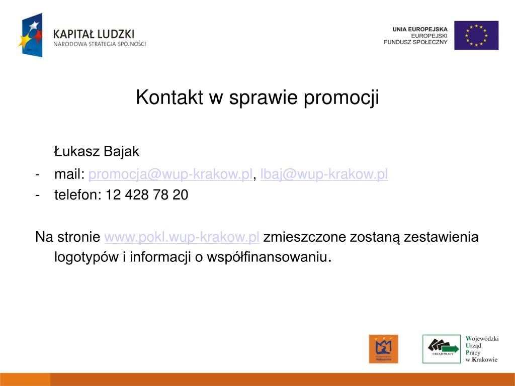 Kontakt w sprawie promocji