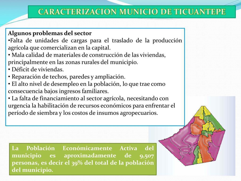 CARACTERIZACION MUNICIO DE TICUANTEPE