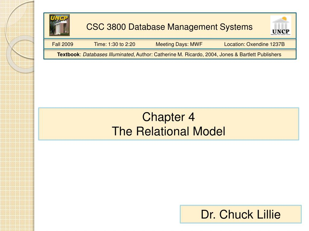 CSC 3800 Database Management Systems