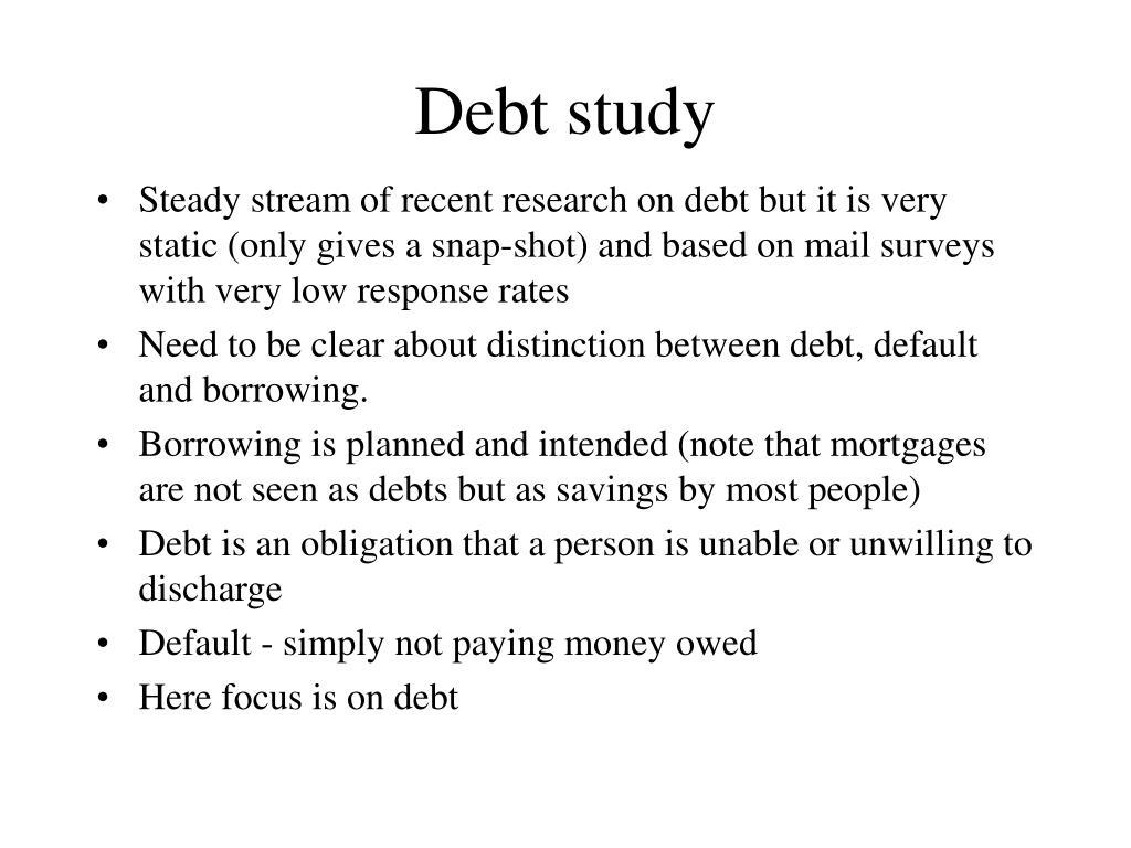 Debt study