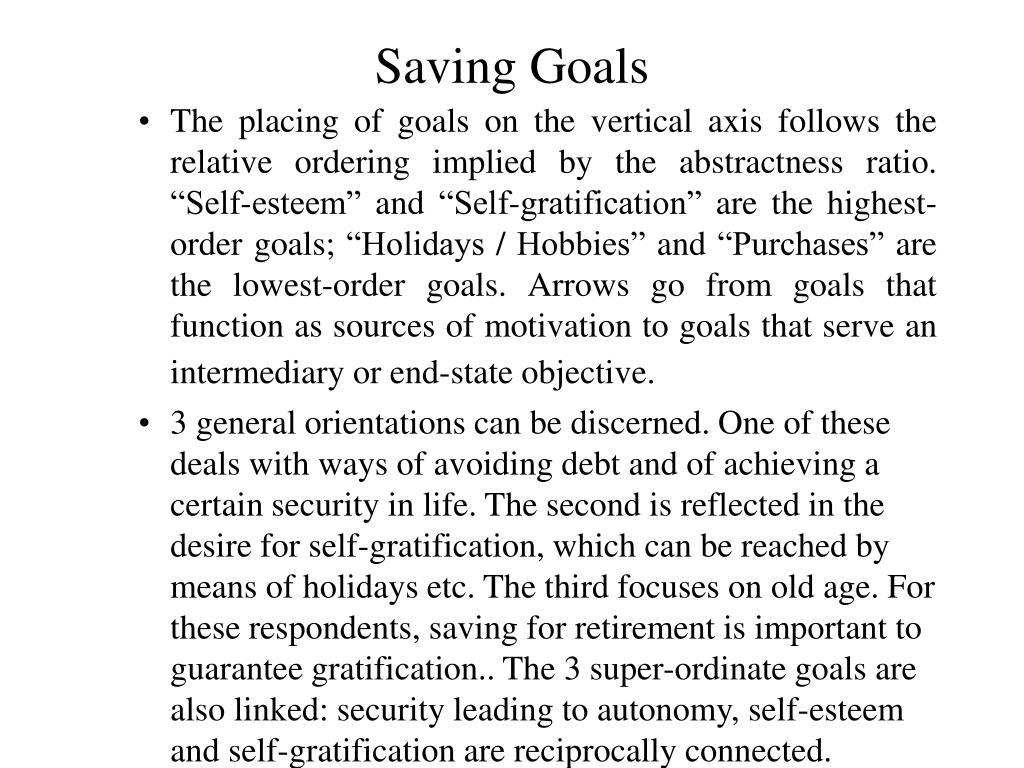 Saving Goals