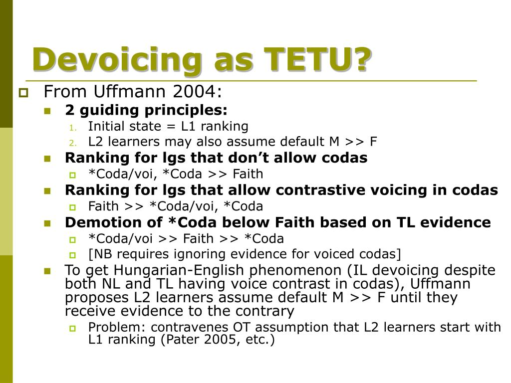 Devoicing as TETU?