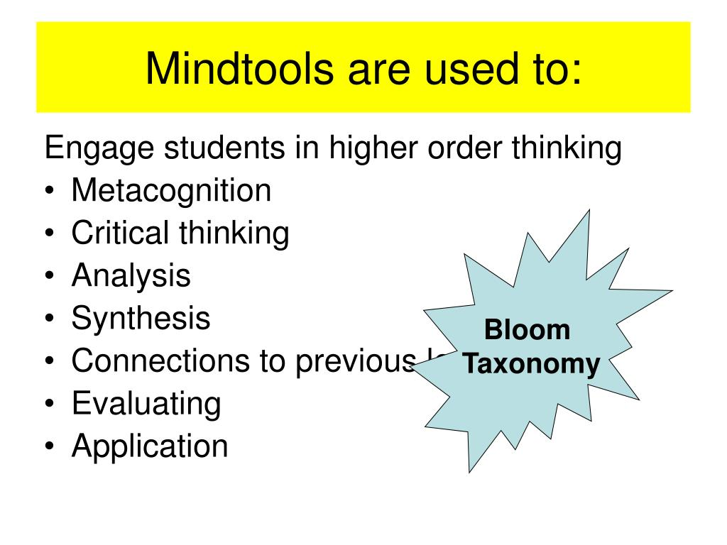 Mindtools are used to: