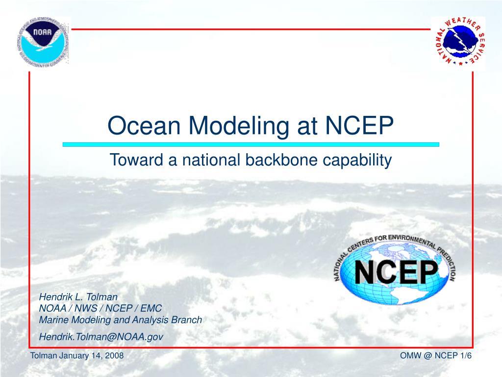 ocean modeling at ncep l.