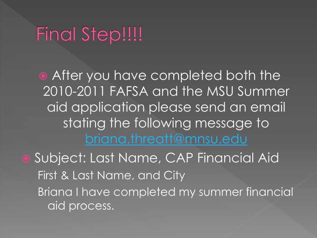 Final Step!!!!
