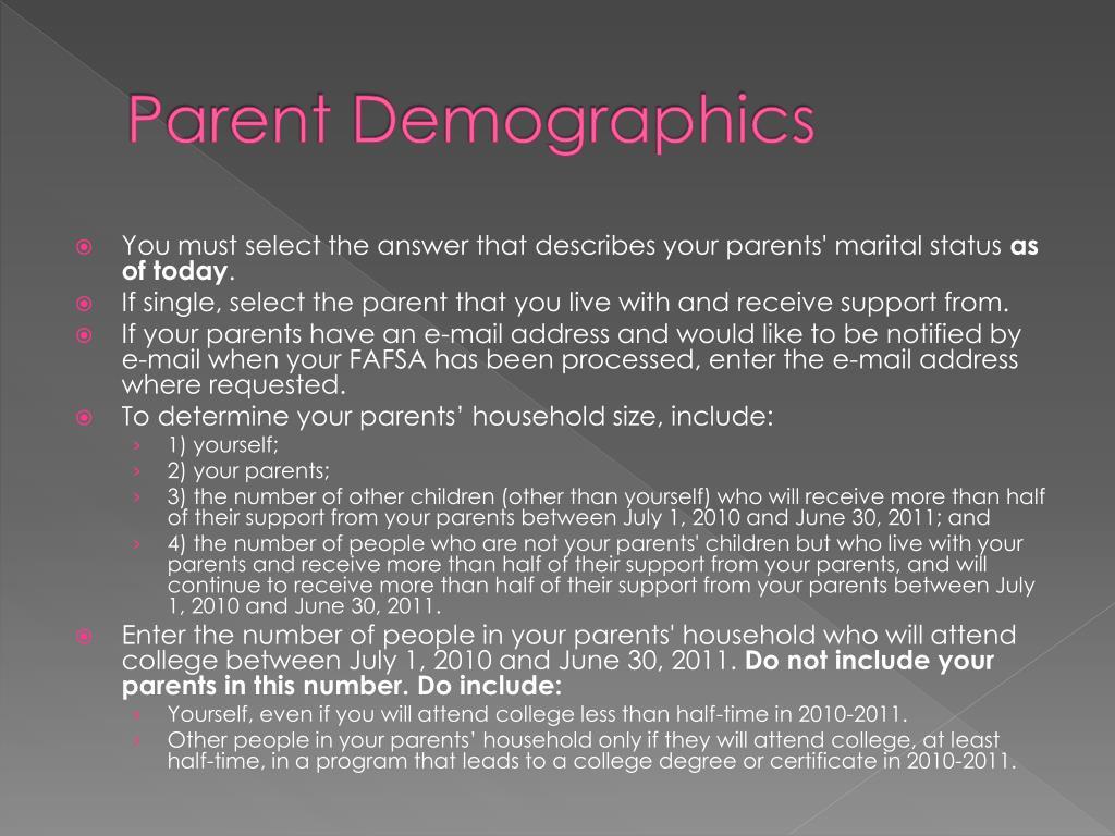 Parent Demographics