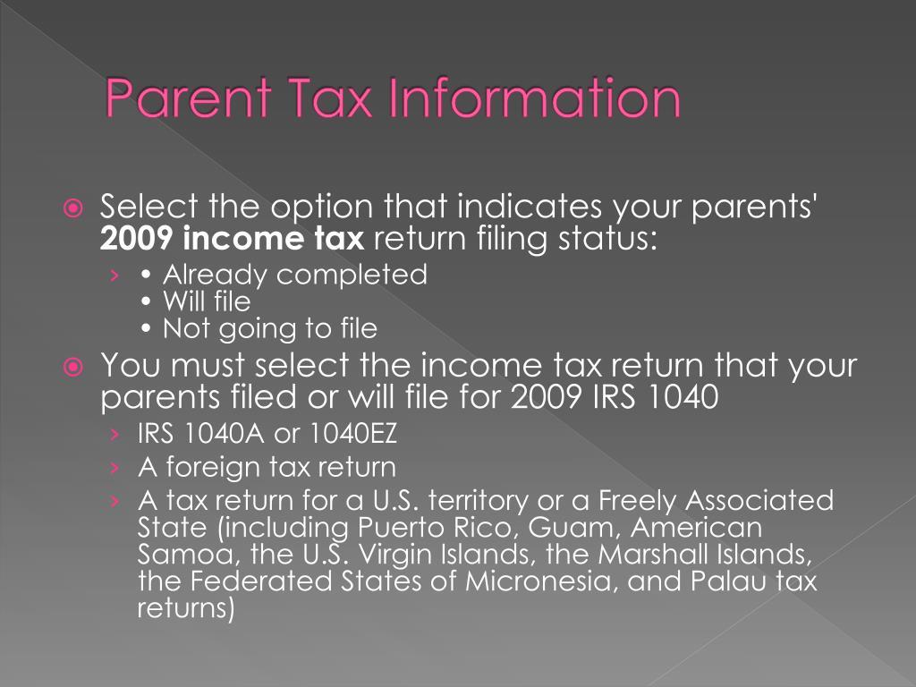 Parent Tax Information