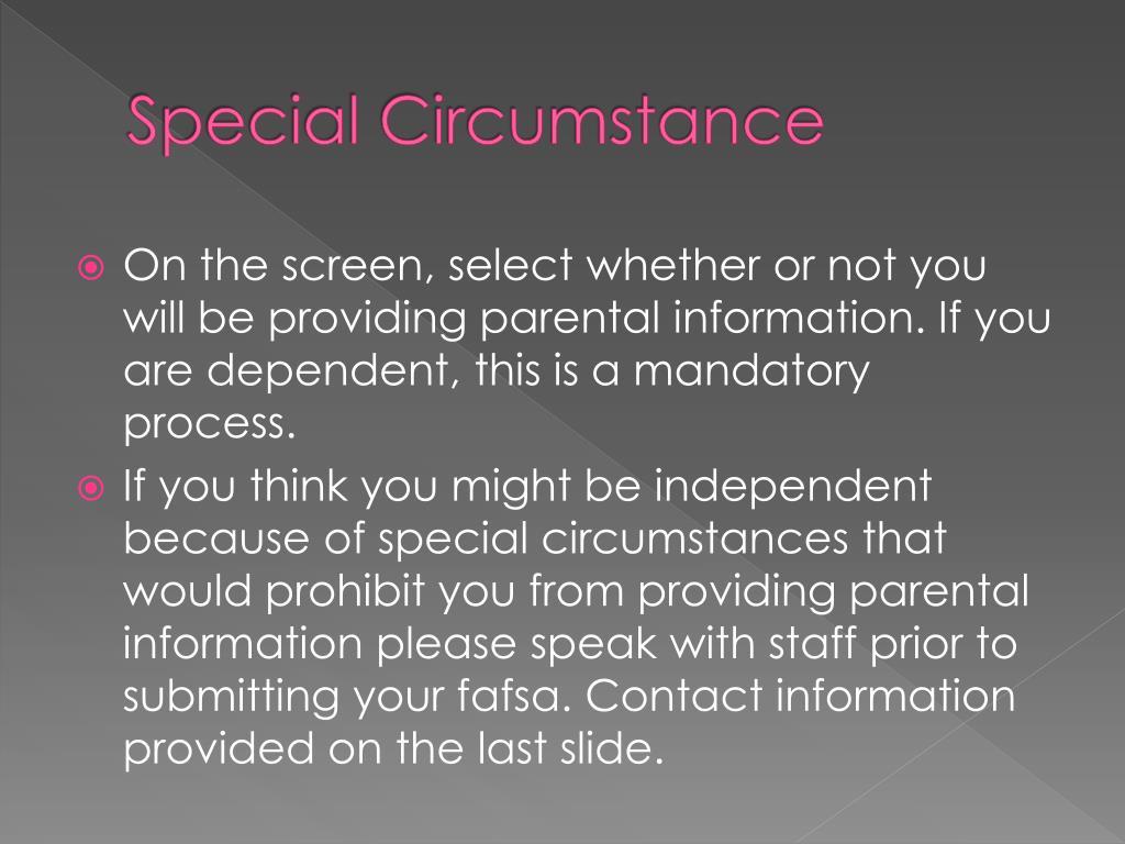 Special Circumstance