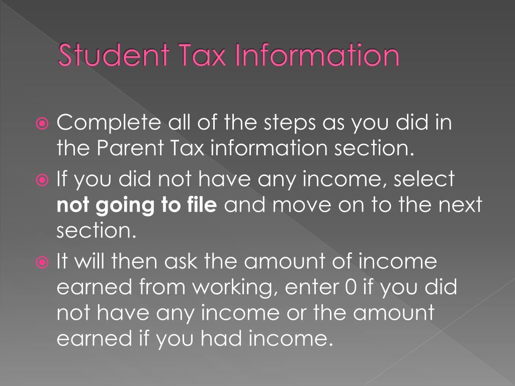 Student Tax Information