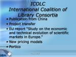 icolc international coalition of library consortia