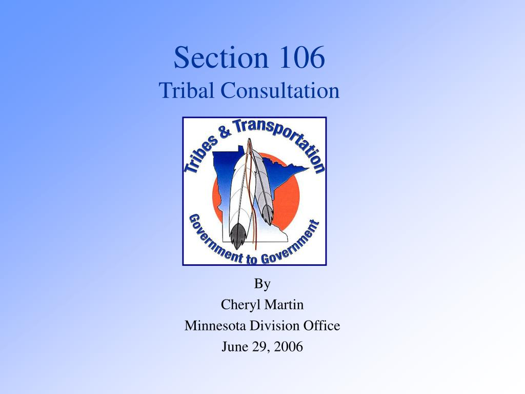 section 106 tribal consultation l.